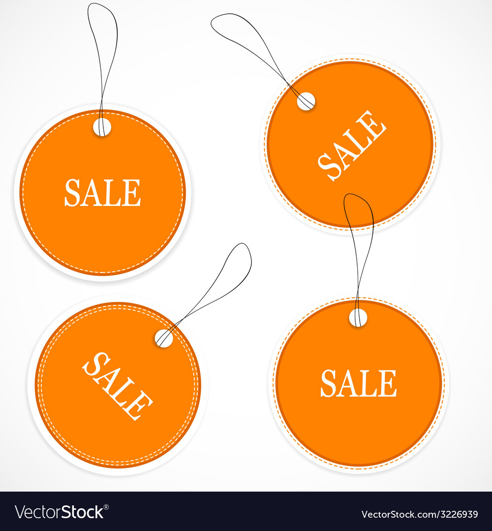 Price and sale tags vector | Price: 1 Credit (USD $1)