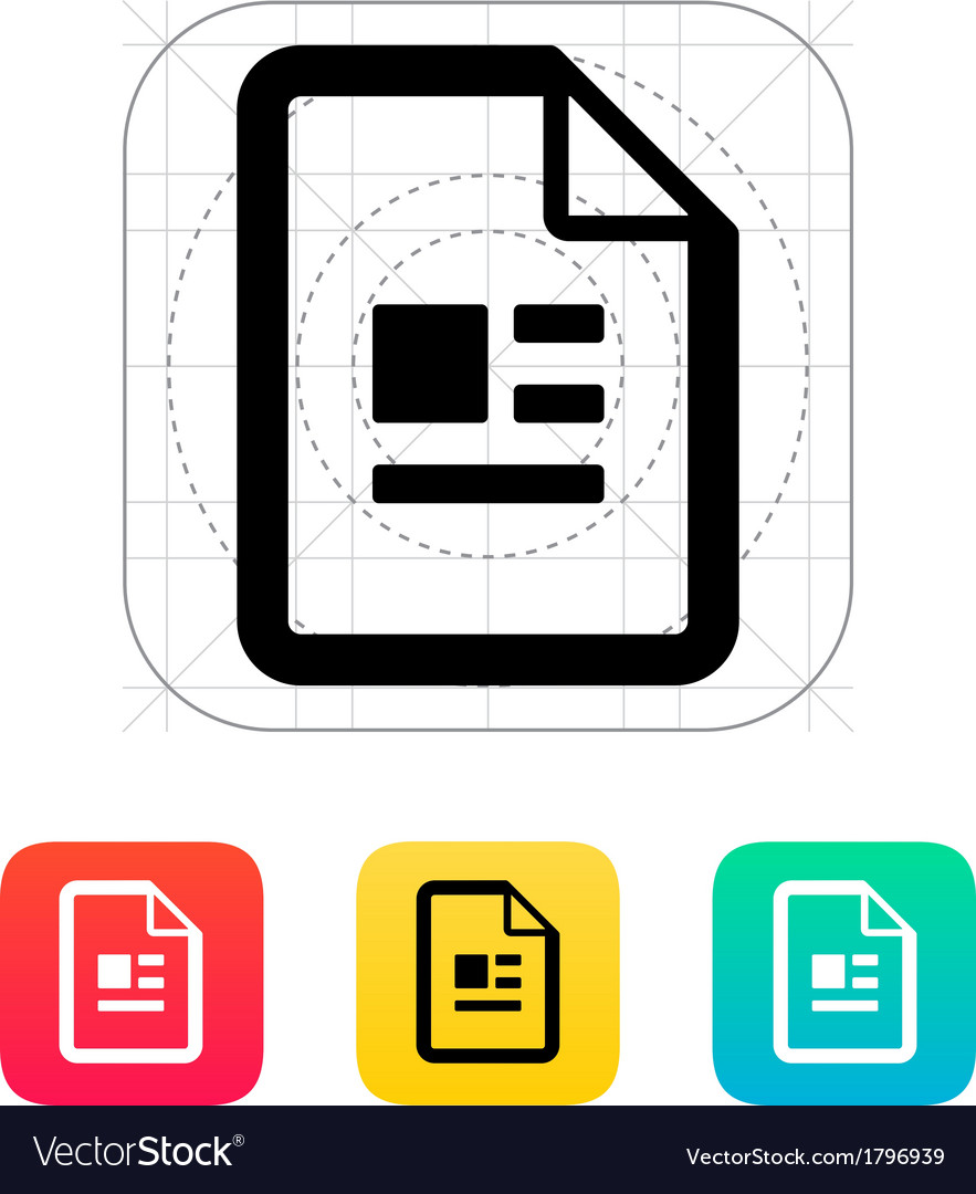 Publication file icon vector | Price: 1 Credit (USD $1)