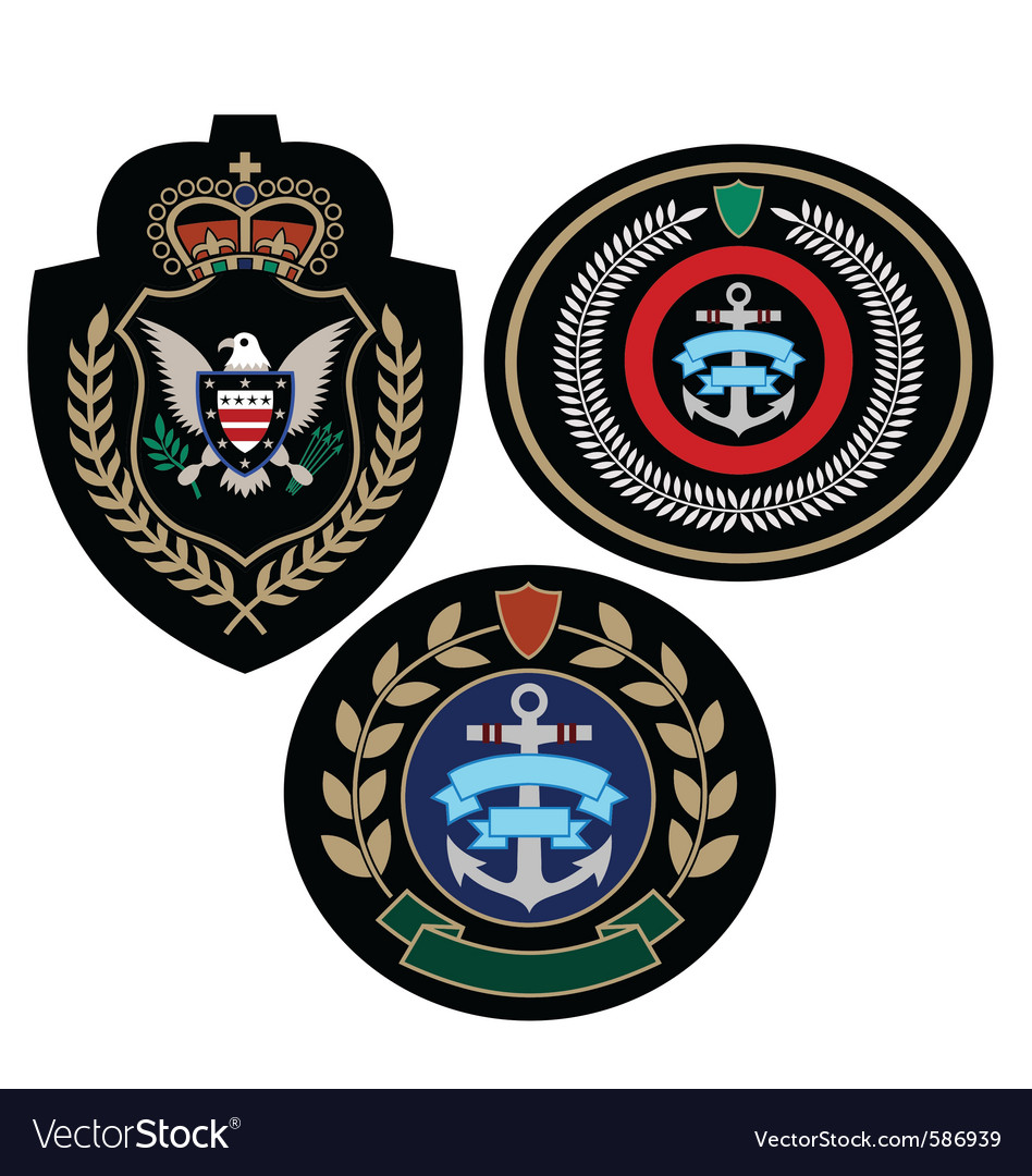 Royal military badge vector | Price: 1 Credit (USD $1)
