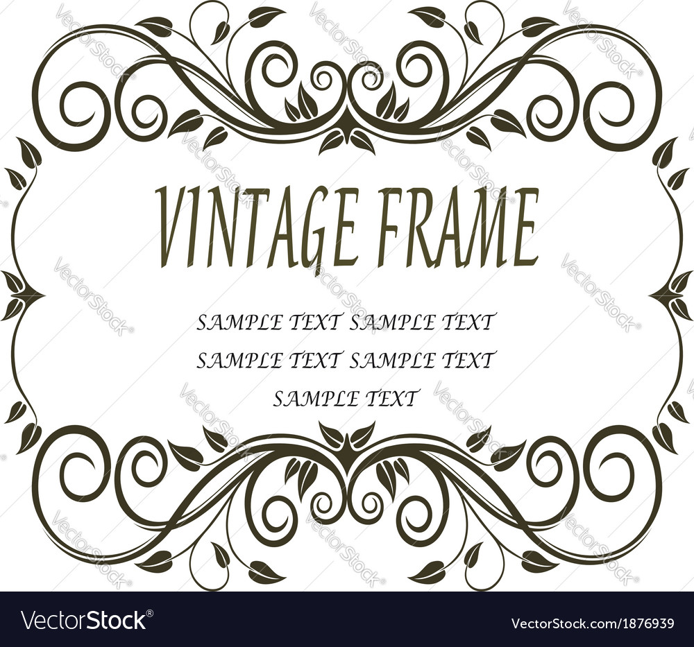 Vintage frame with curlicues and swirls vector | Price: 1 Credit (USD $1)