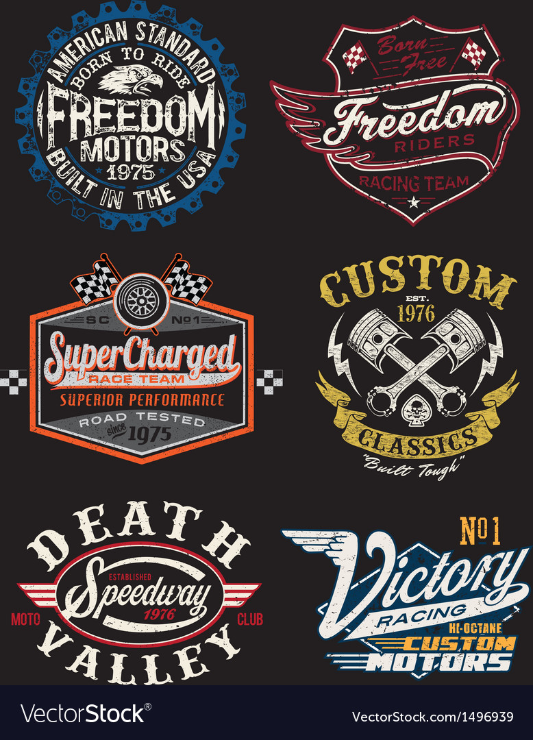 Vintage motorcycle themed badge vector