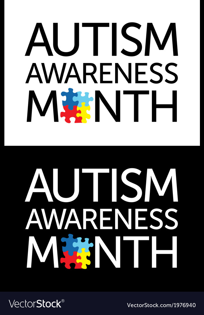 Autism awareness month vector | Price: 1 Credit (USD $1)