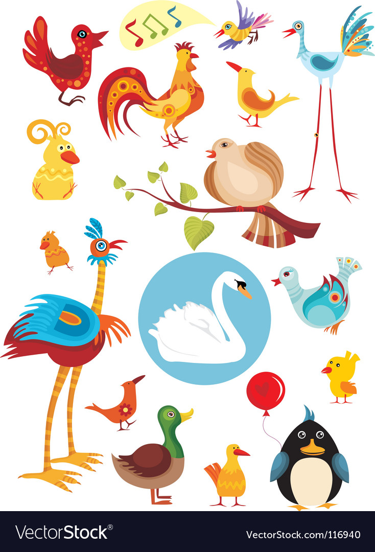 Bird set vector | Price: 3 Credit (USD $3)