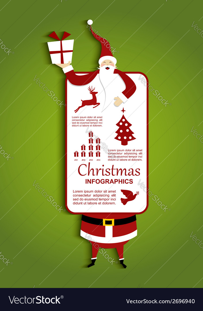 Christmas and santa infographic vector | Price: 1 Credit (USD $1)