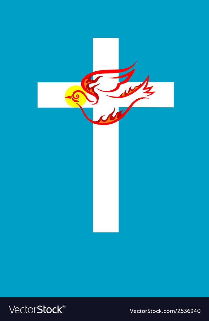 Cross n dove holy spirit vector | Price: 1 Credit (USD $1)