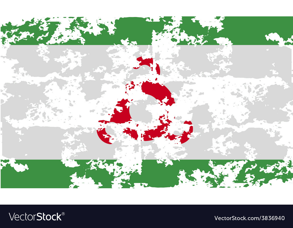Flag of ingushetia with old texture vector | Price: 1 Credit (USD $1)