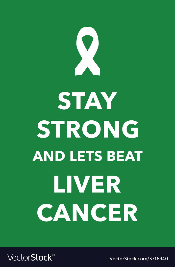 Liver cancer poster vector | Price: 1 Credit (USD $1)