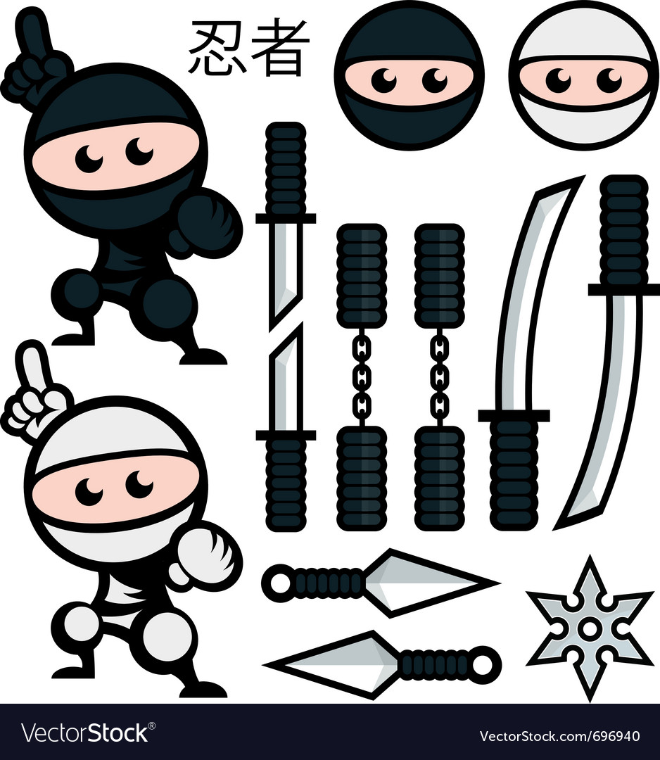 Ninja vector | Price: 3 Credit (USD $3)