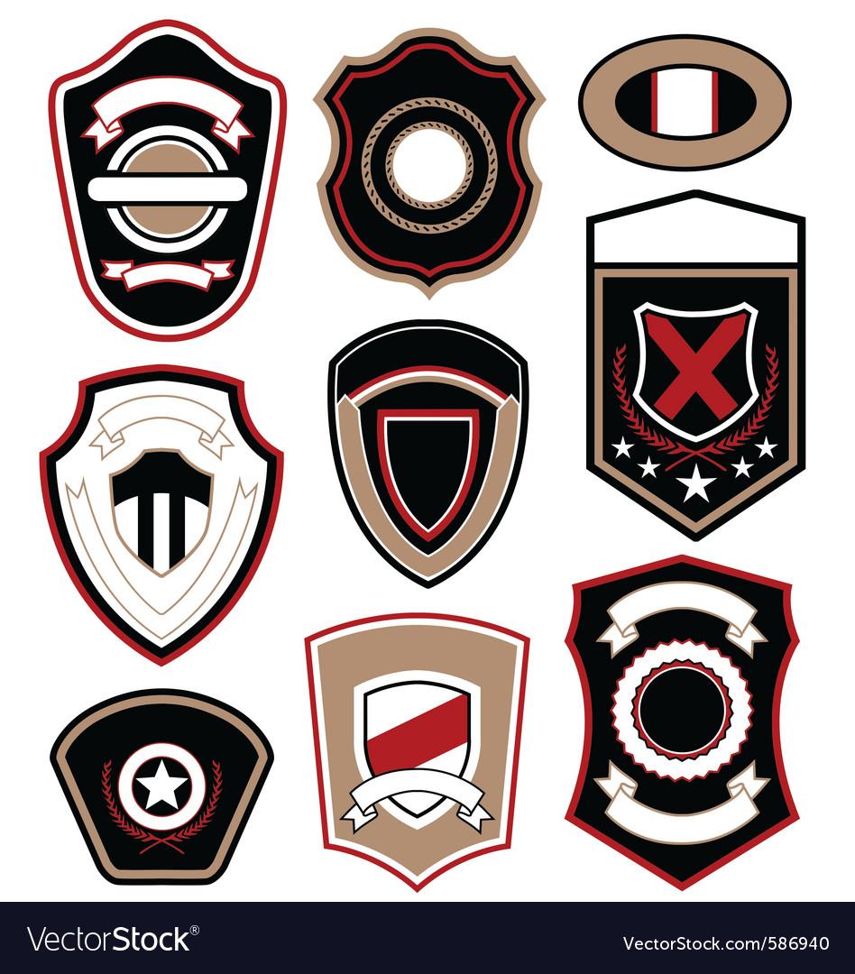 Royal military badge vector | Price: 1 Credit (USD $1)