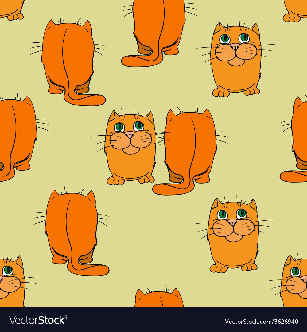 Seamless texture cats vector | Price: 1 Credit (USD $1)