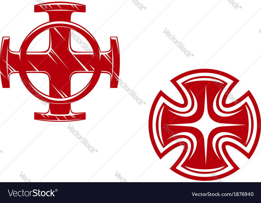Stylized crosses vector | Price: 1 Credit (USD $1)