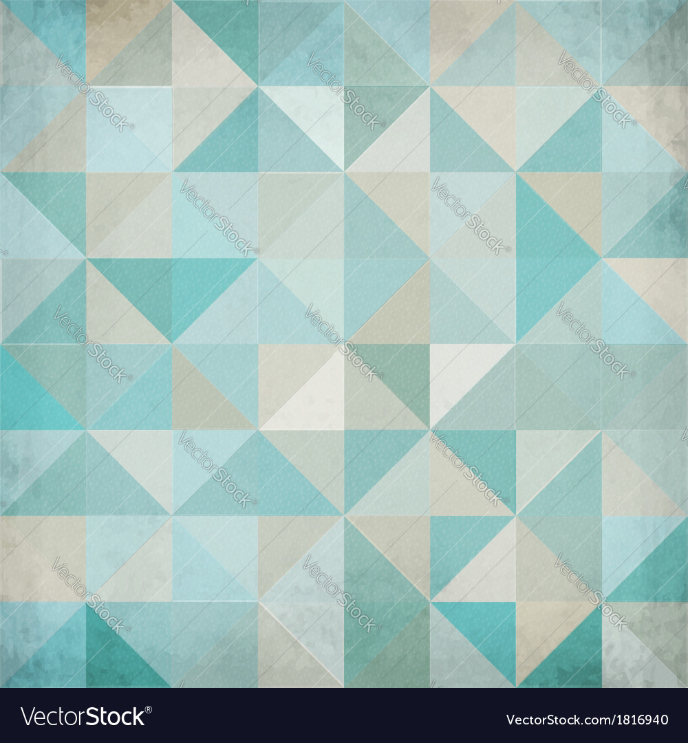 Vintage blue triangular background vector | Price: 1 Credit (USD $1)