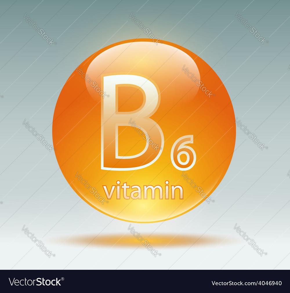 Vitamin b6 vector | Price: 1 Credit (USD $1)