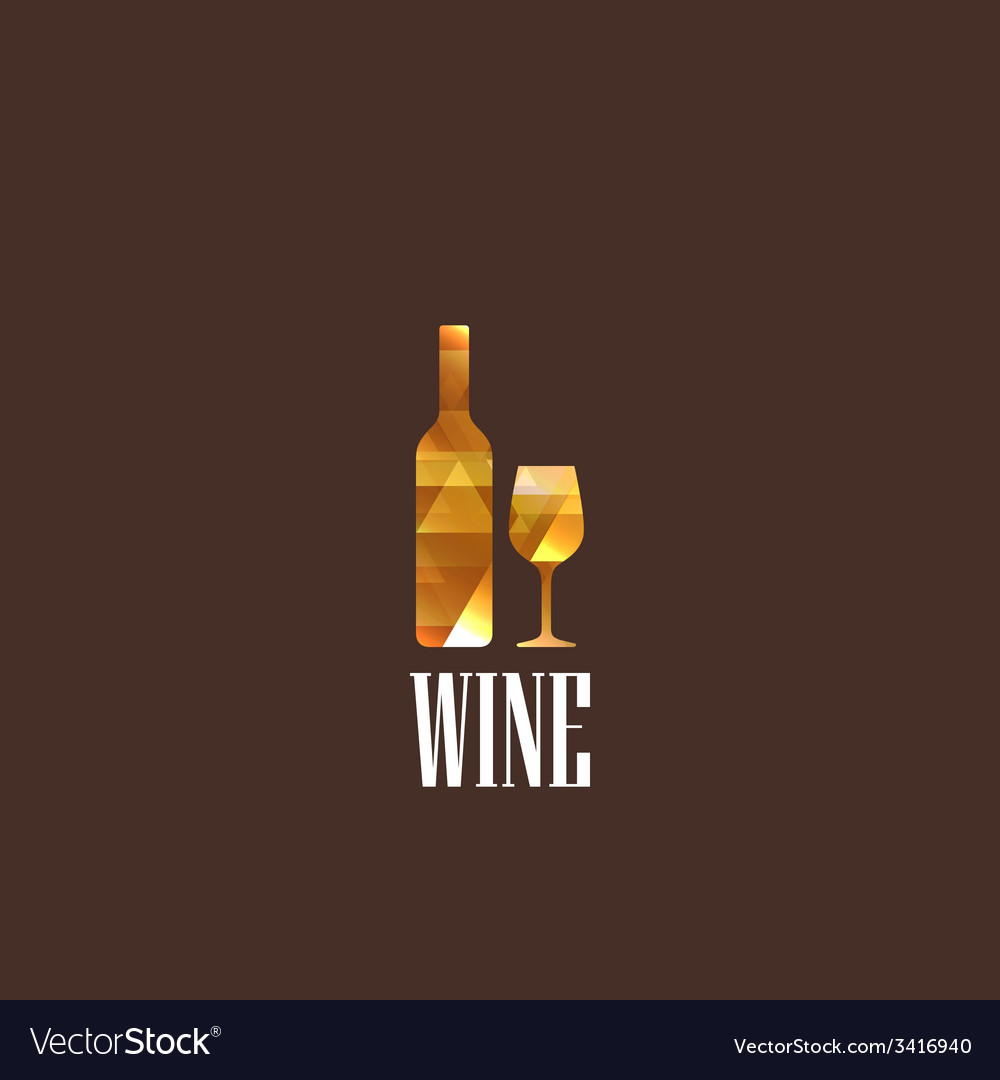 With diamond wineglass and bottle vector | Price: 1 Credit (USD $1)