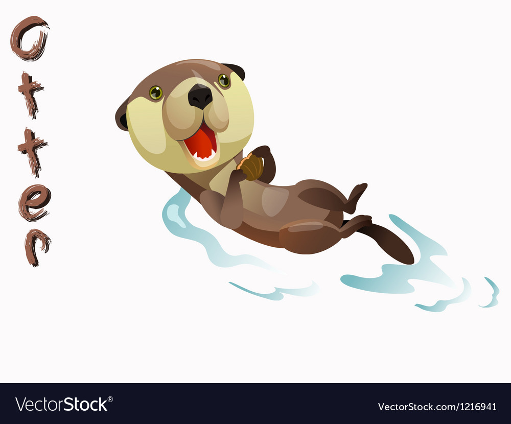 Animal otter vector | Price: 1 Credit (USD $1)
