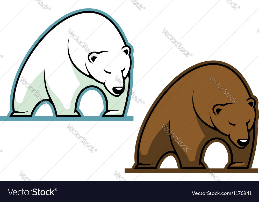 Big kodiak bear vector | Price: 3 Credit (USD $3)