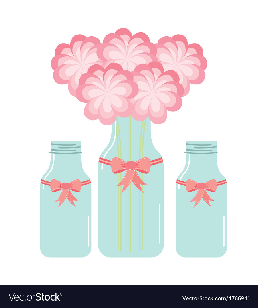 Bottle and flower vector | Price: 1 Credit (USD $1)