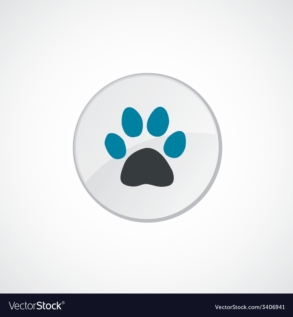 Cat footprint icon 2 colored vector | Price: 1 Credit (USD $1)