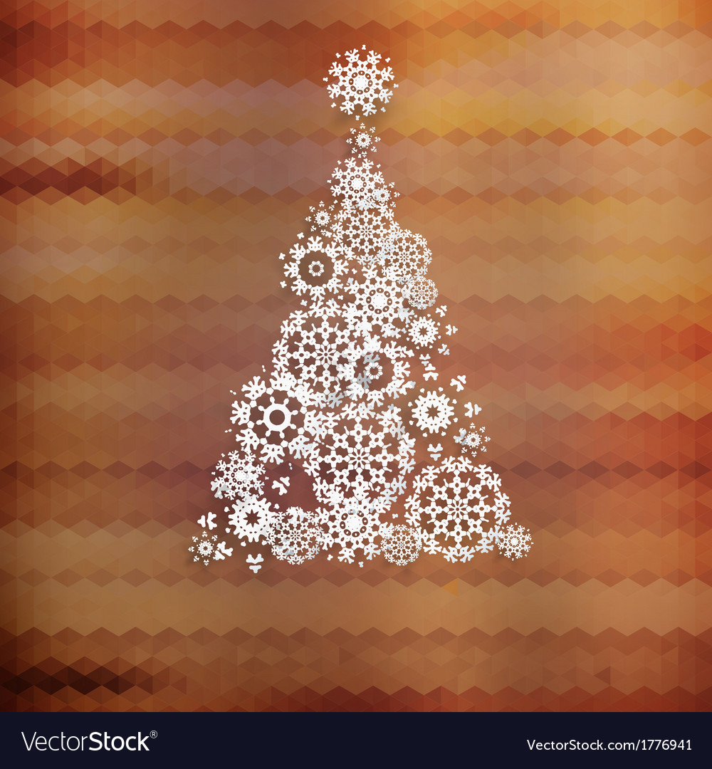 Christmas tree with colorful triangle  eps10 vector | Price: 1 Credit (USD $1)