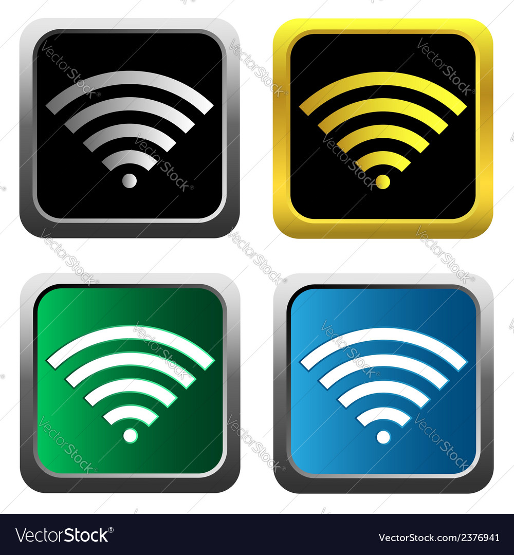 Colorful wifi icons for business or commercial use vector | Price: 1 Credit (USD $1)