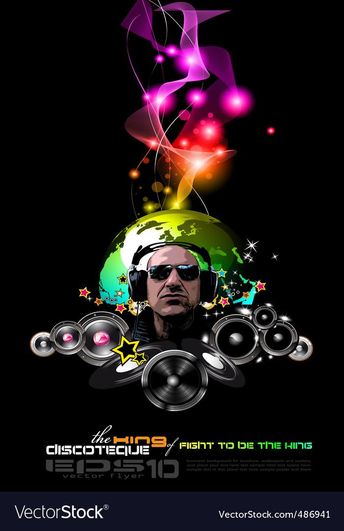 Disco flyer vector | Price: 1 Credit (USD $1)