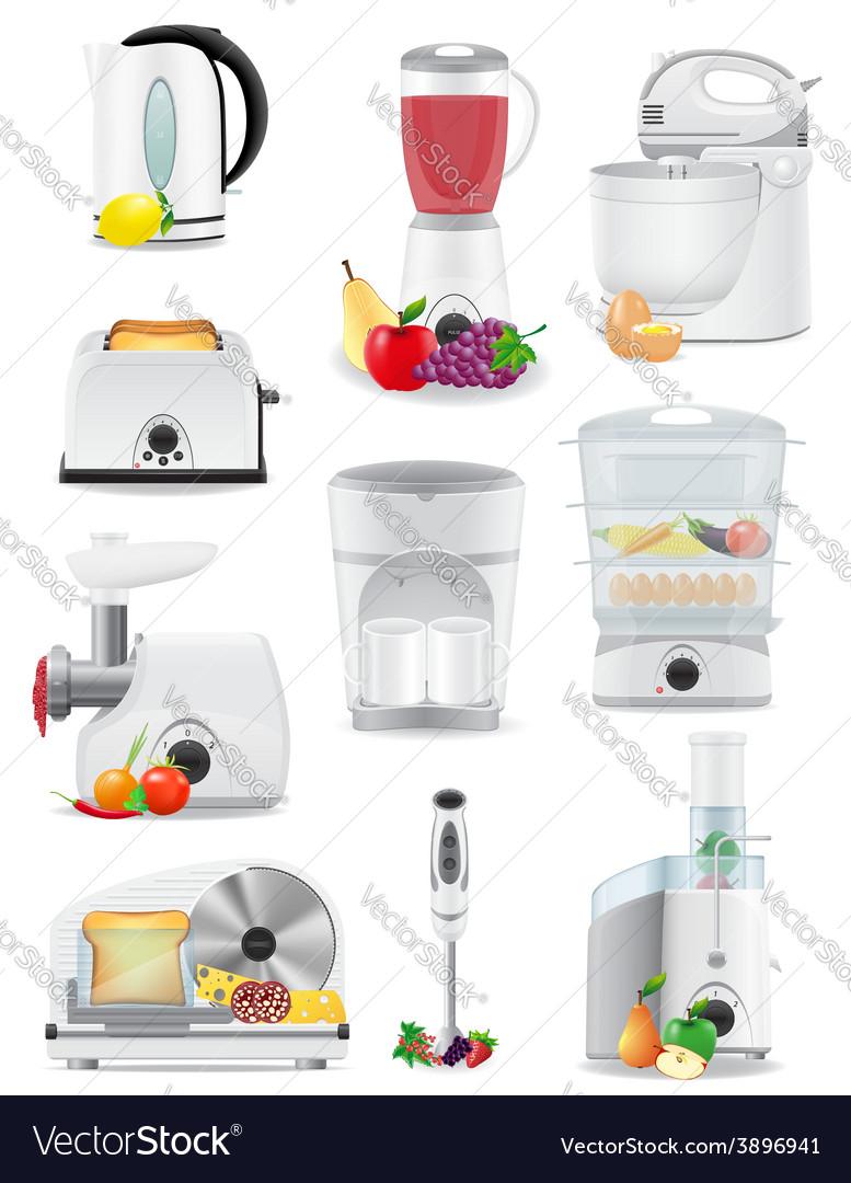 Electrical appliances for the kitchen 02 vector | Price: 3 Credit (USD $3)