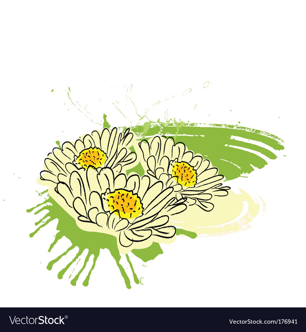 Flower paint vector | Price: 1 Credit (USD $1)