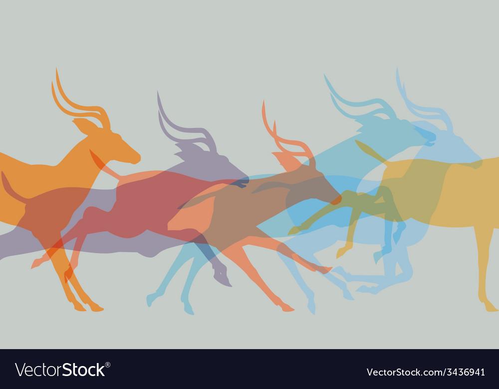 Herd running vector | Price: 1 Credit (USD $1)