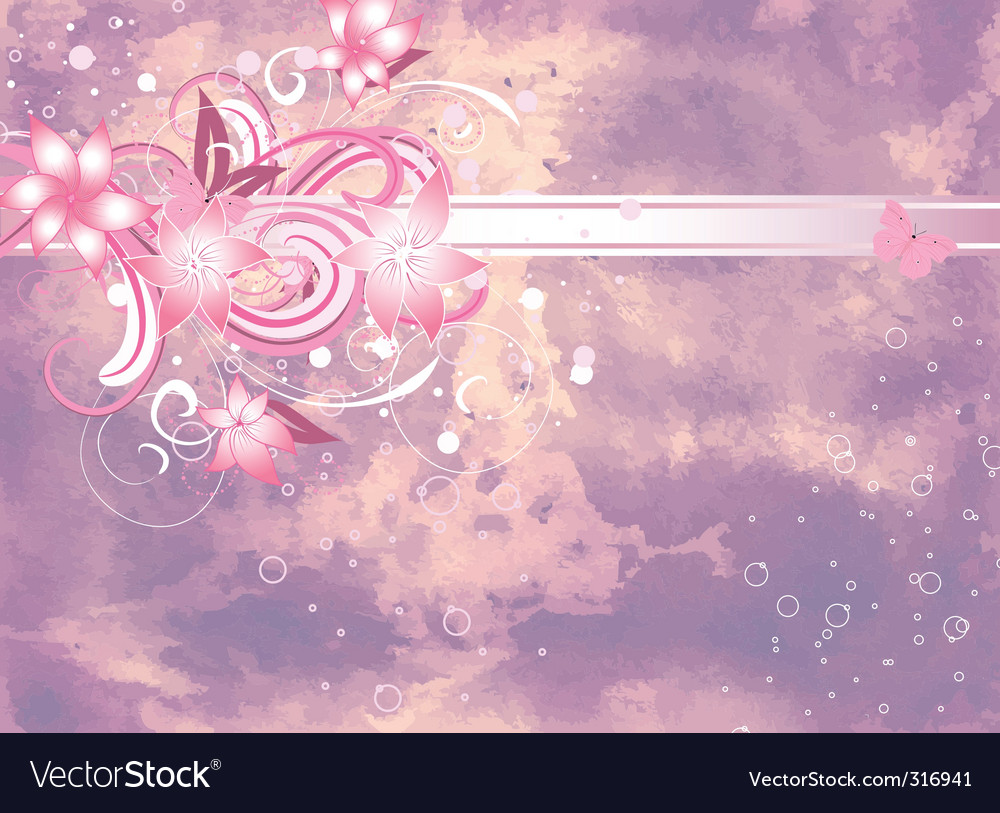 Lilac floral vector | Price: 1 Credit (USD $1)