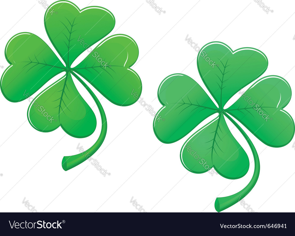 Lucky clover vector | Price: 1 Credit (USD $1)