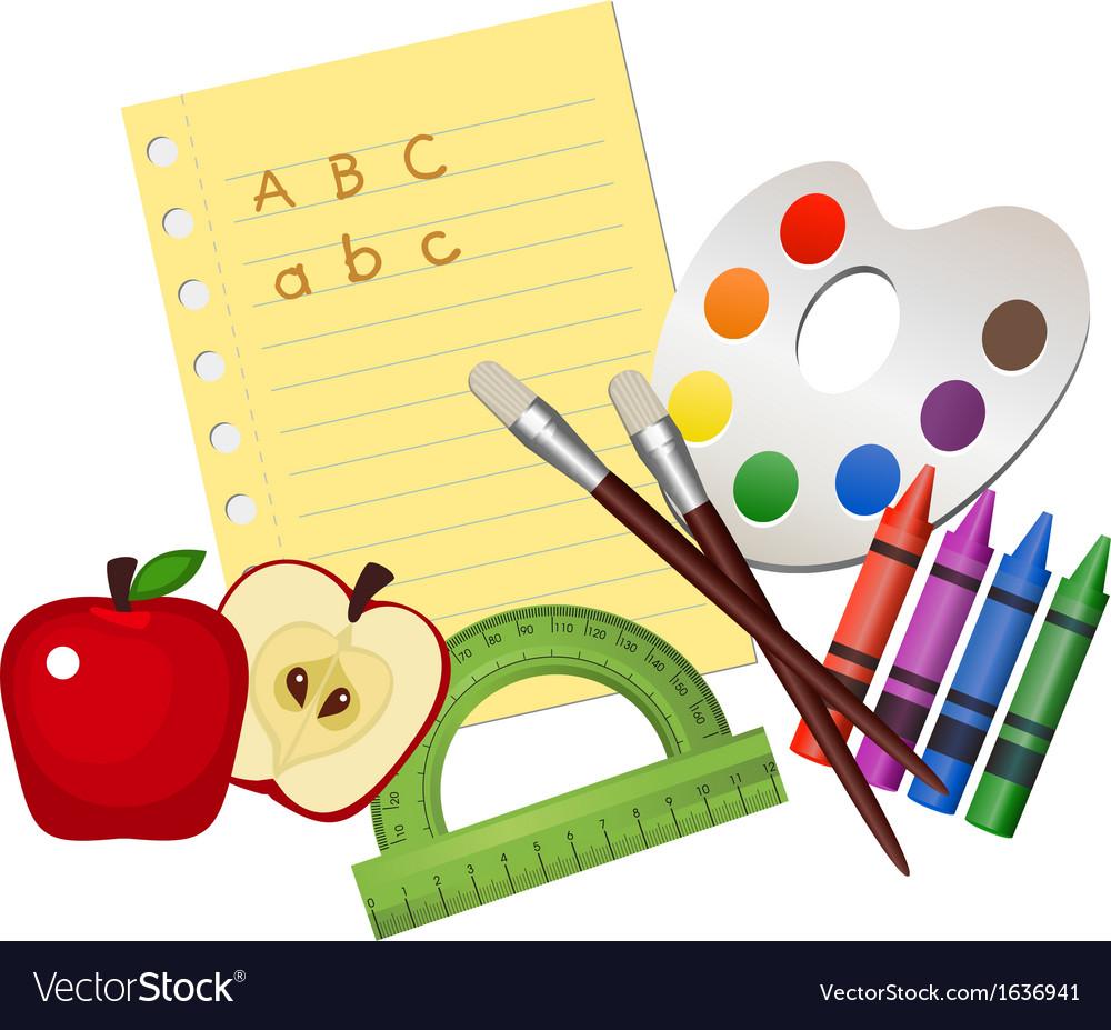 School supplies vector | Price: 1 Credit (USD $1)