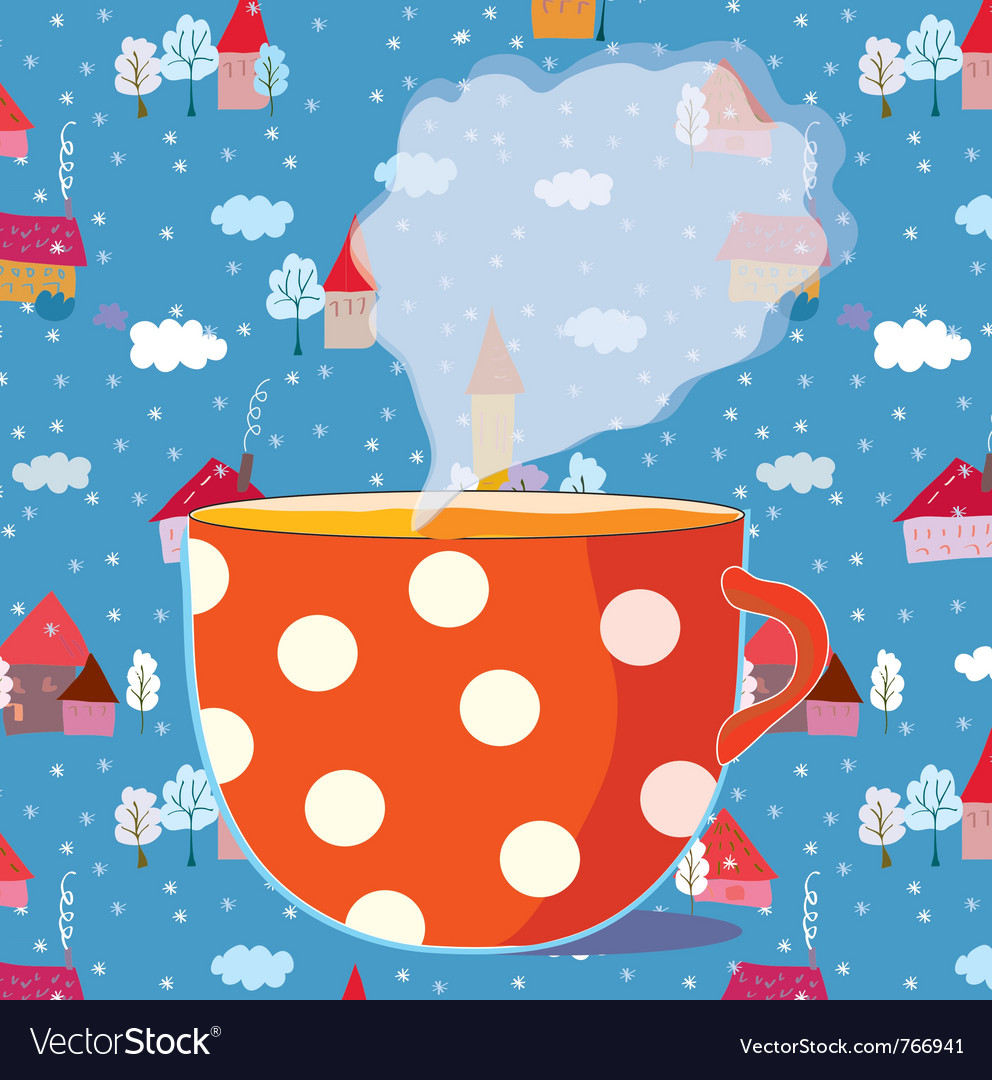 Tea cup drawing vector | Price: 1 Credit (USD $1)