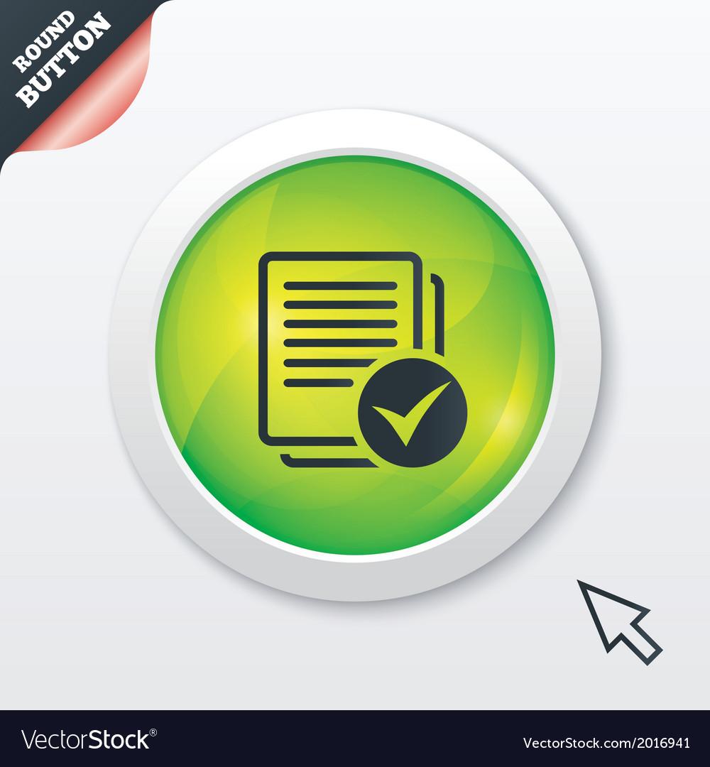 Text file sign icon check file document symbol vector   Price: 1 Credit (USD $1)
