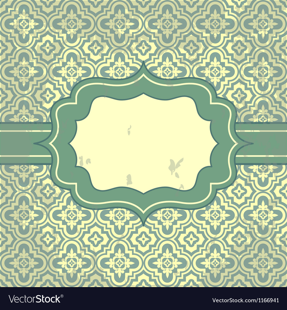 Vintage pattern and frame for design vector | Price: 1 Credit (USD $1)
