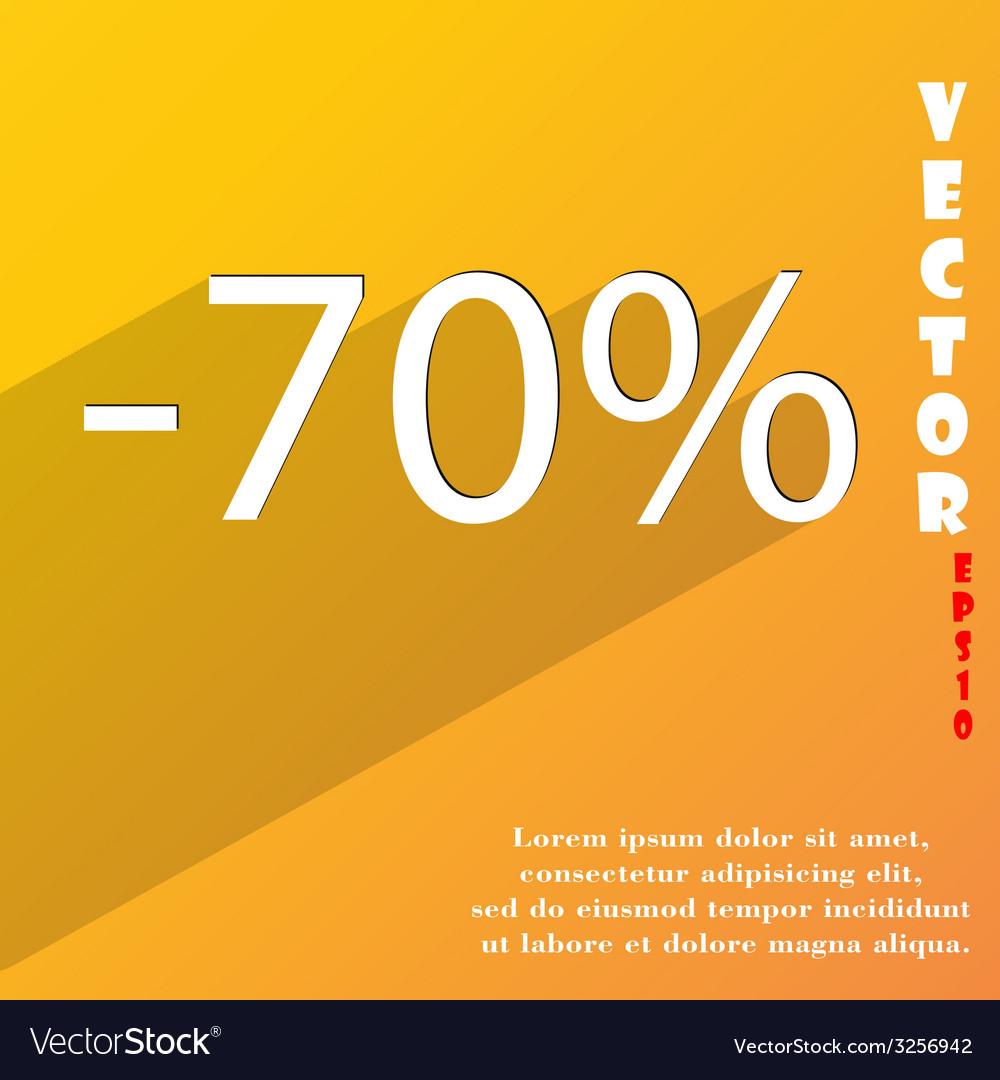 70 percent discount icon symbol flat modern web vector   Price: 1 Credit (USD $1)