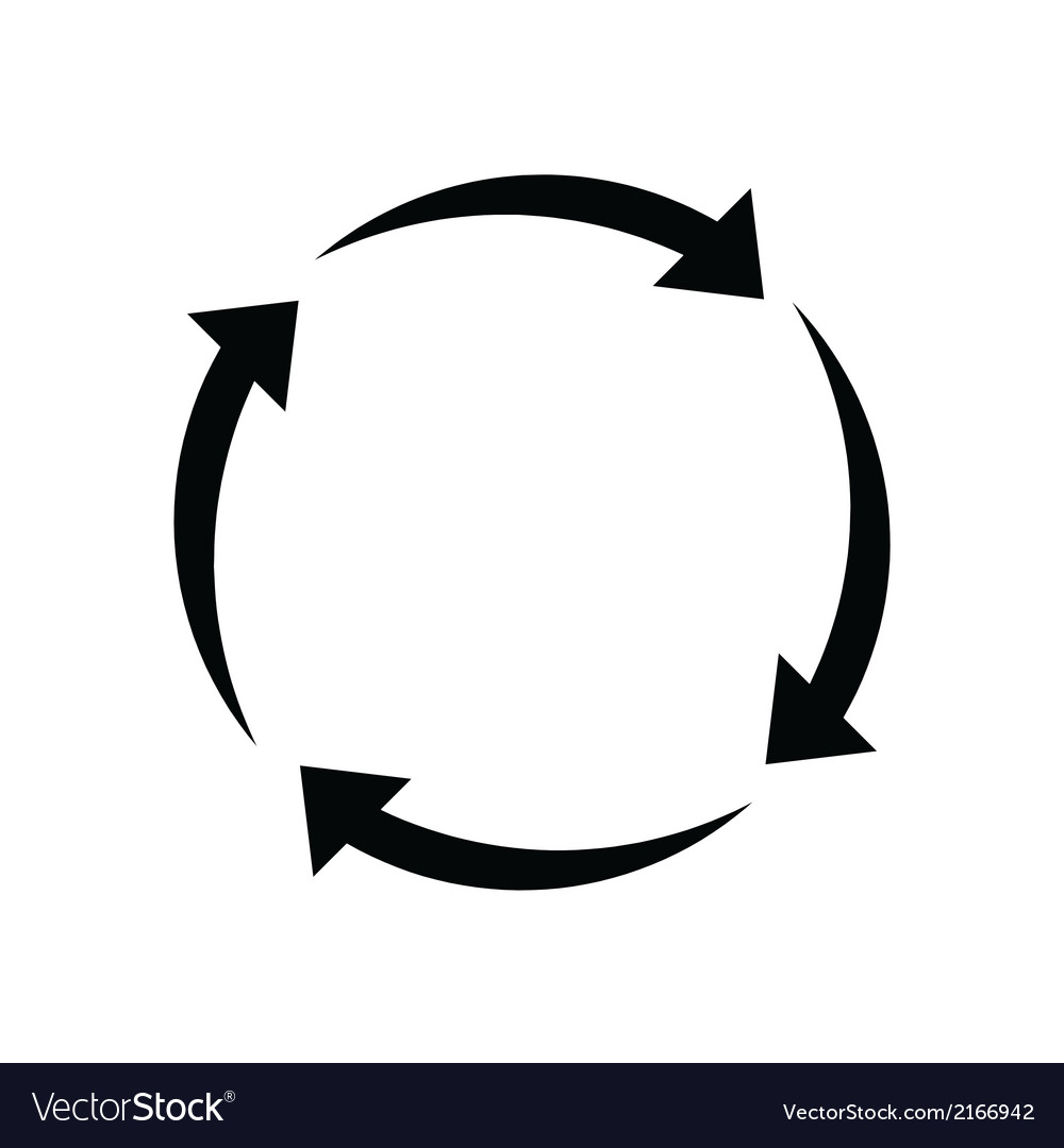 Arrows signs of recycling vector   Price: 1 Credit (USD $1)