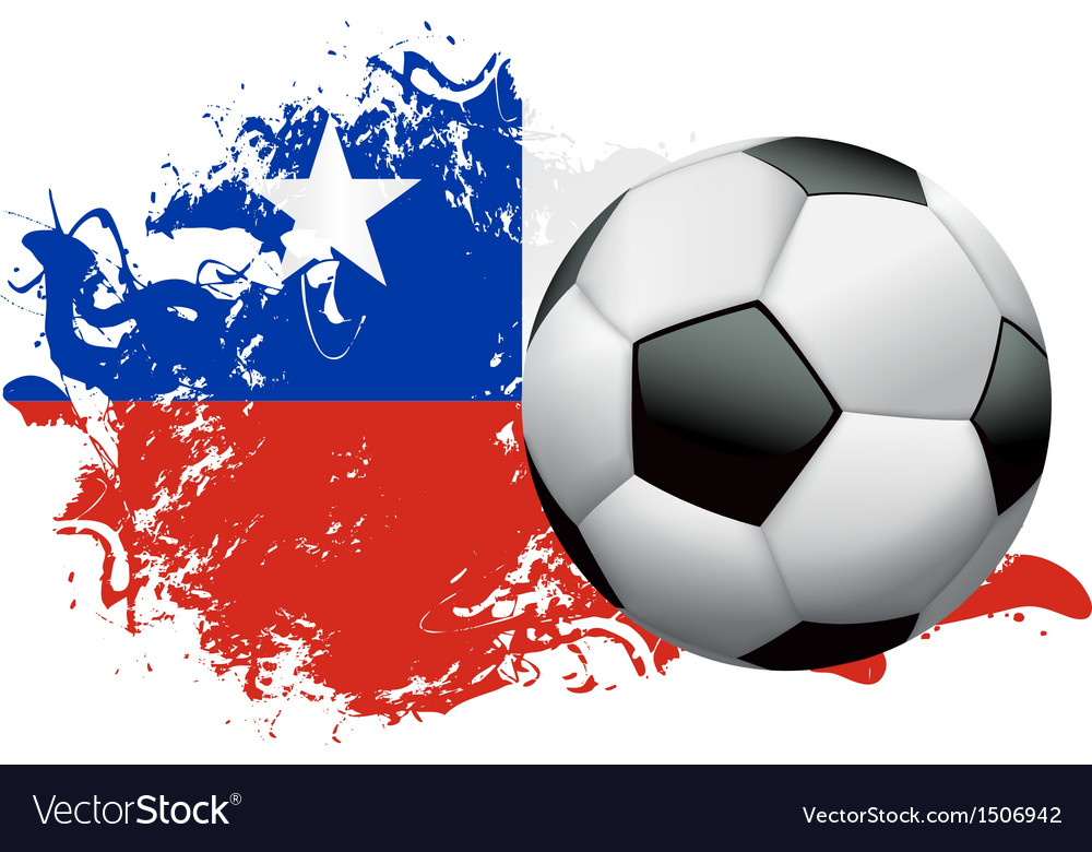 Chile soccer grunge vector | Price: 1 Credit (USD $1)
