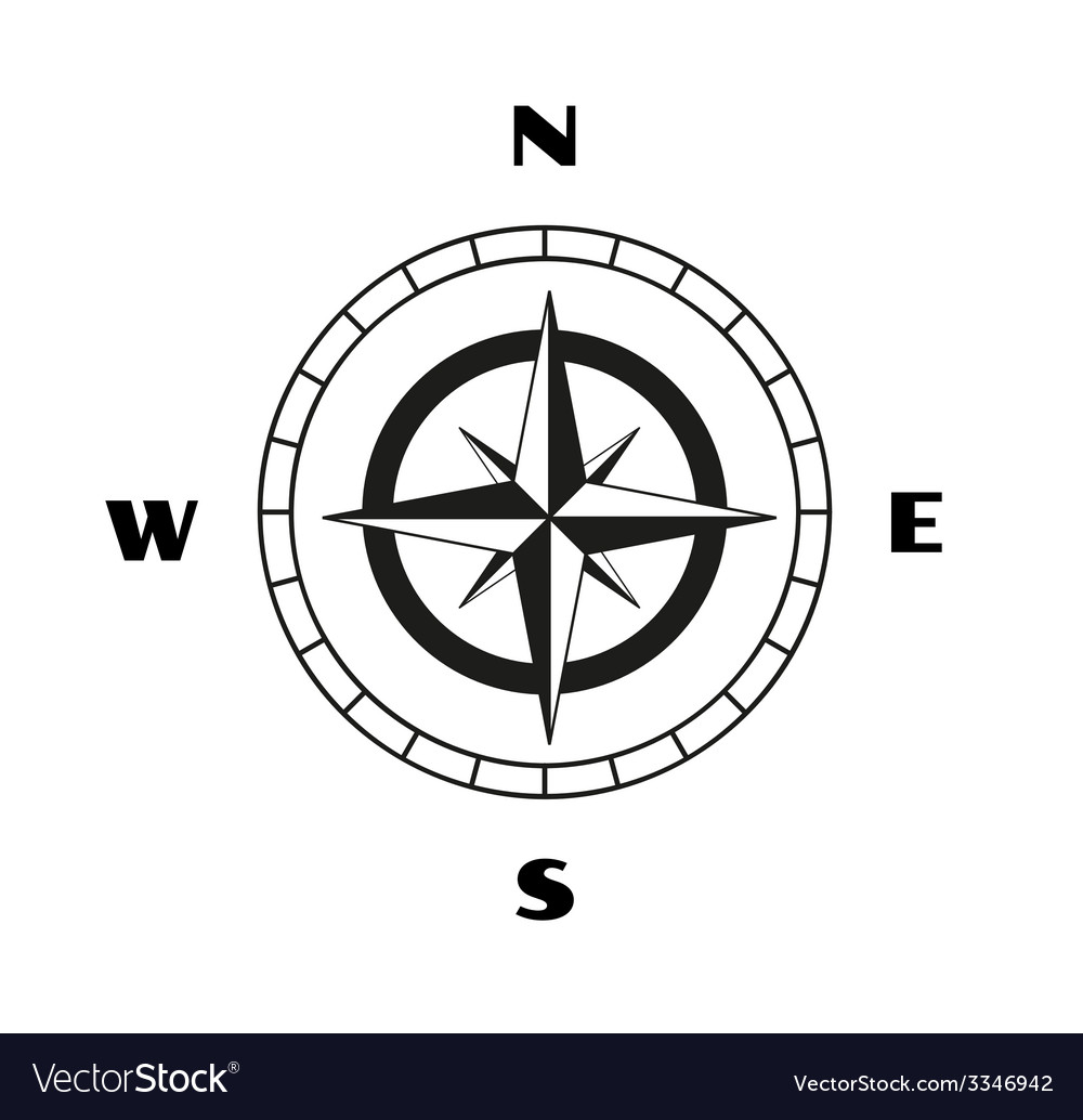 Compass sketch vector | Price: 1 Credit (USD $1)