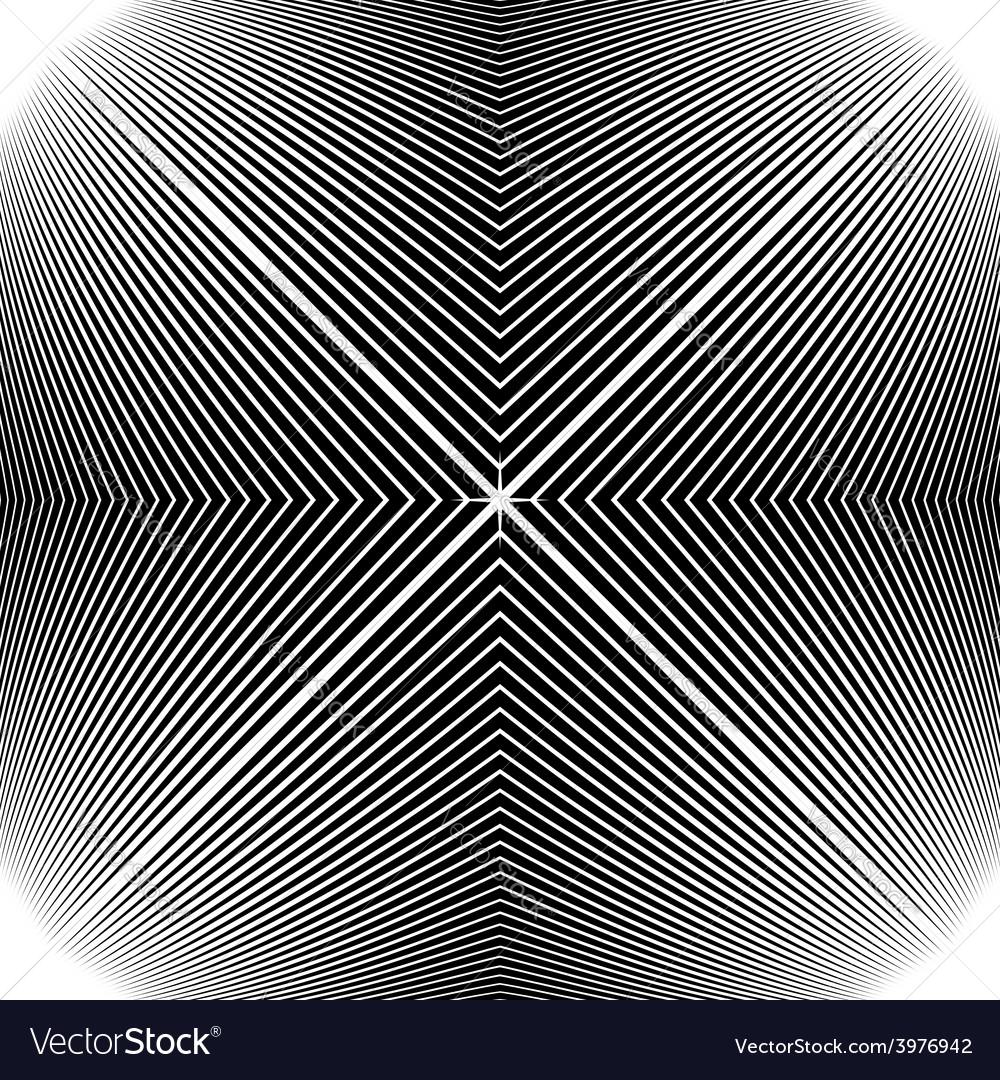 Design monochrome stripy geometric background vector | Price: 1 Credit (USD $1)