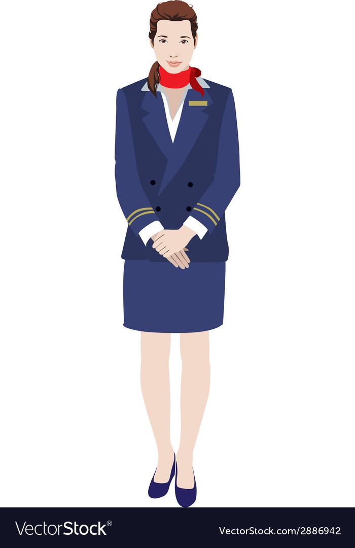 Flight attendant vector | Price: 1 Credit (USD $1)