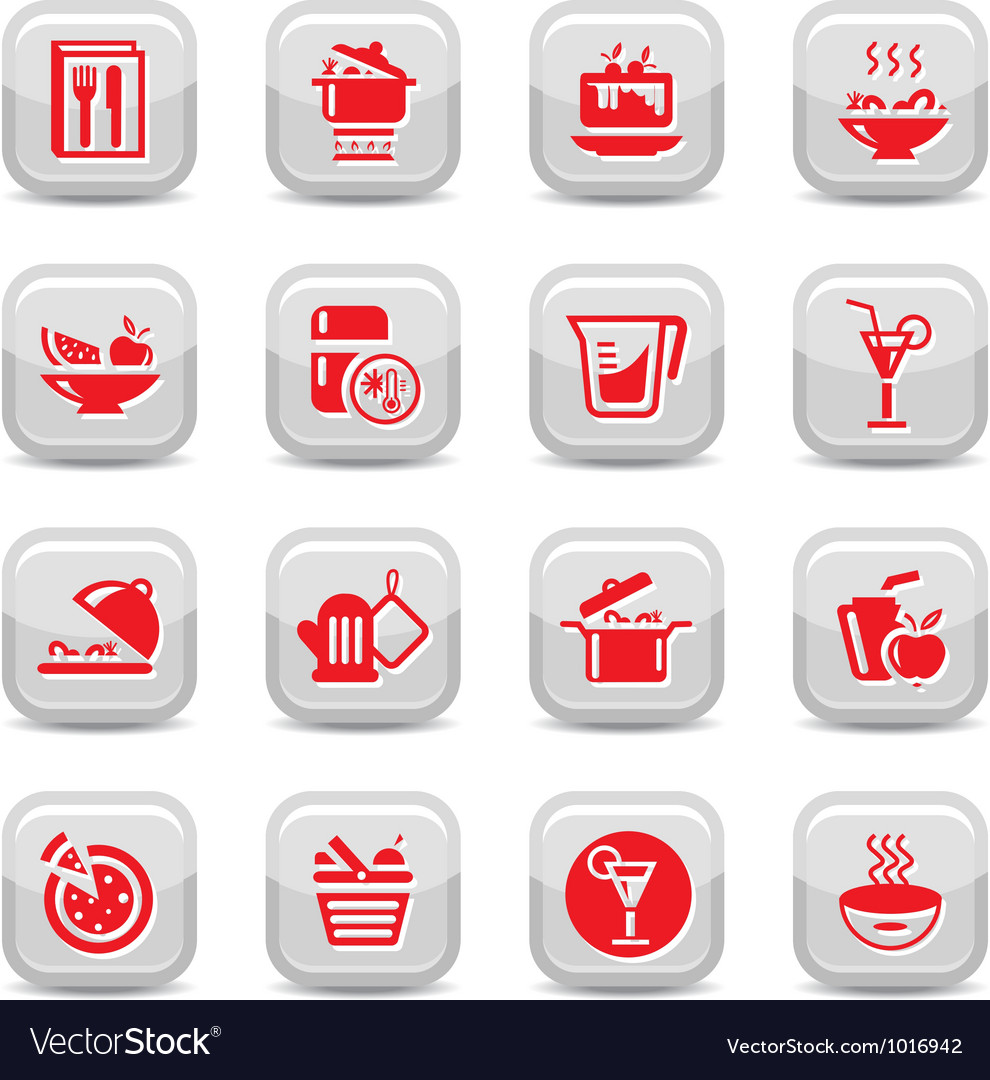 Food type icons vector | Price: 1 Credit (USD $1)