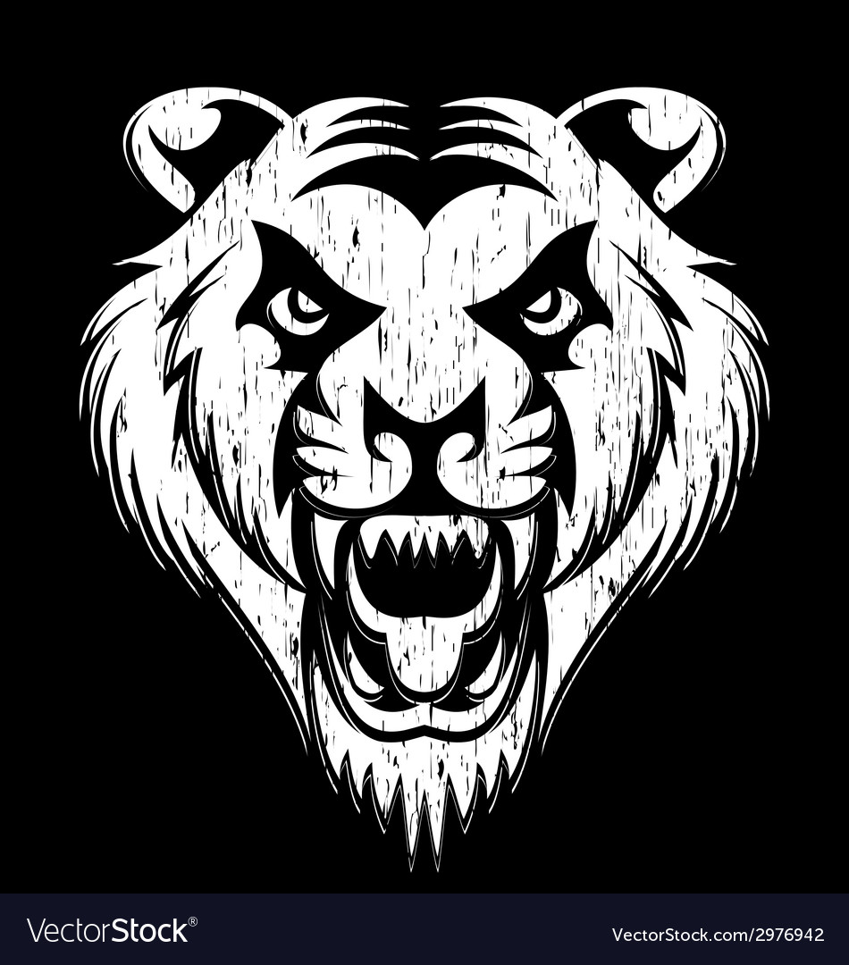 Grunge tiger head vector   Price: 1 Credit (USD $1)