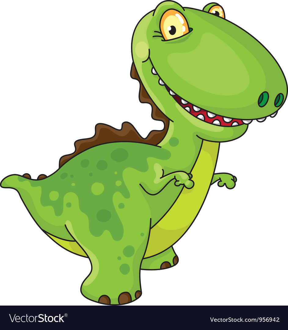 Laughing dinosaur vector | Price: 3 Credit (USD $3)