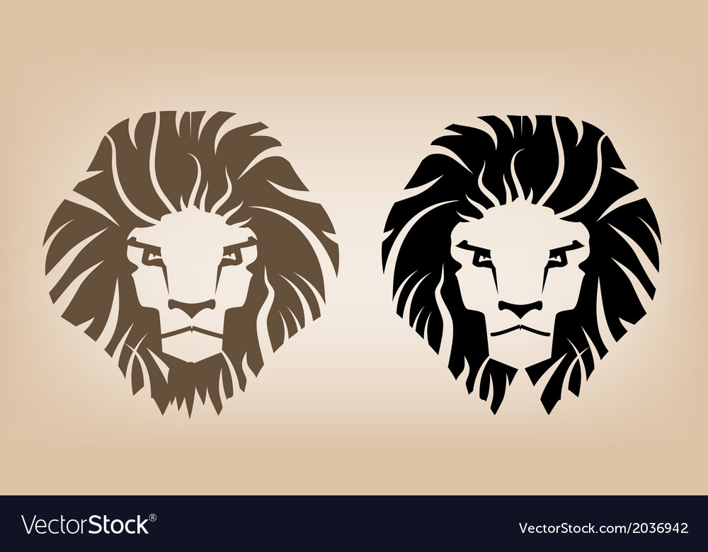 Lion head icons vector | Price: 1 Credit (USD $1)