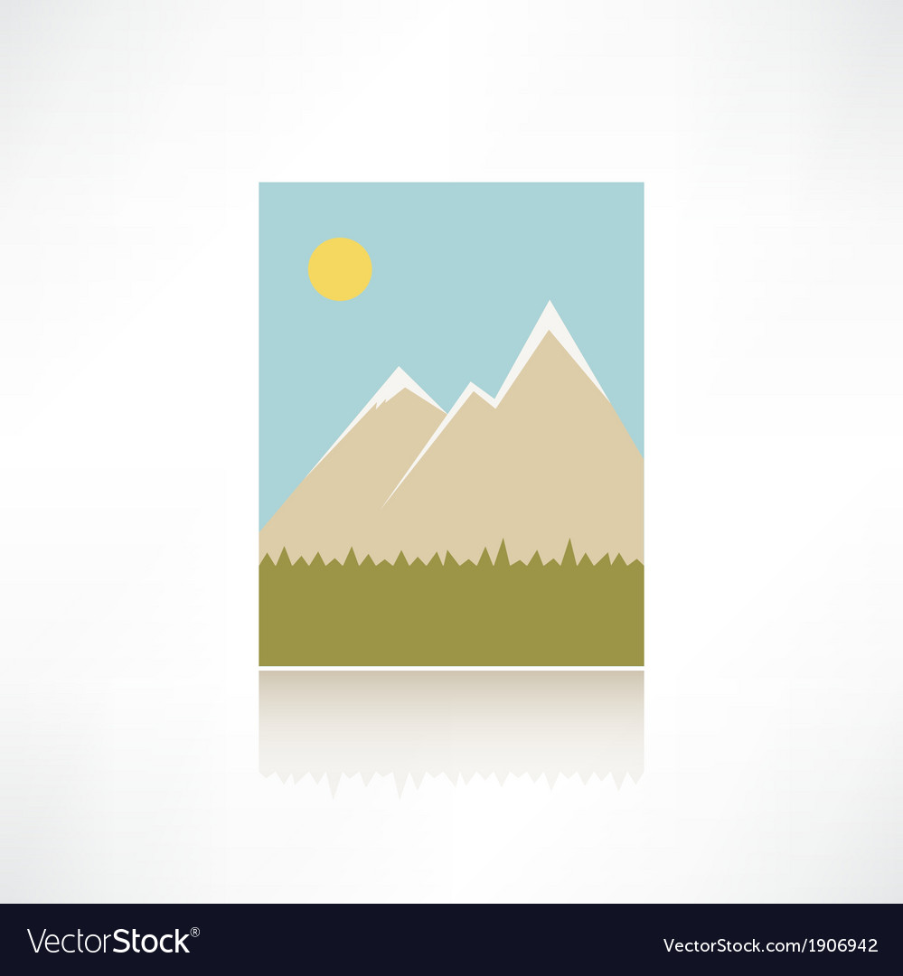 Mountains icon vector | Price: 1 Credit (USD $1)