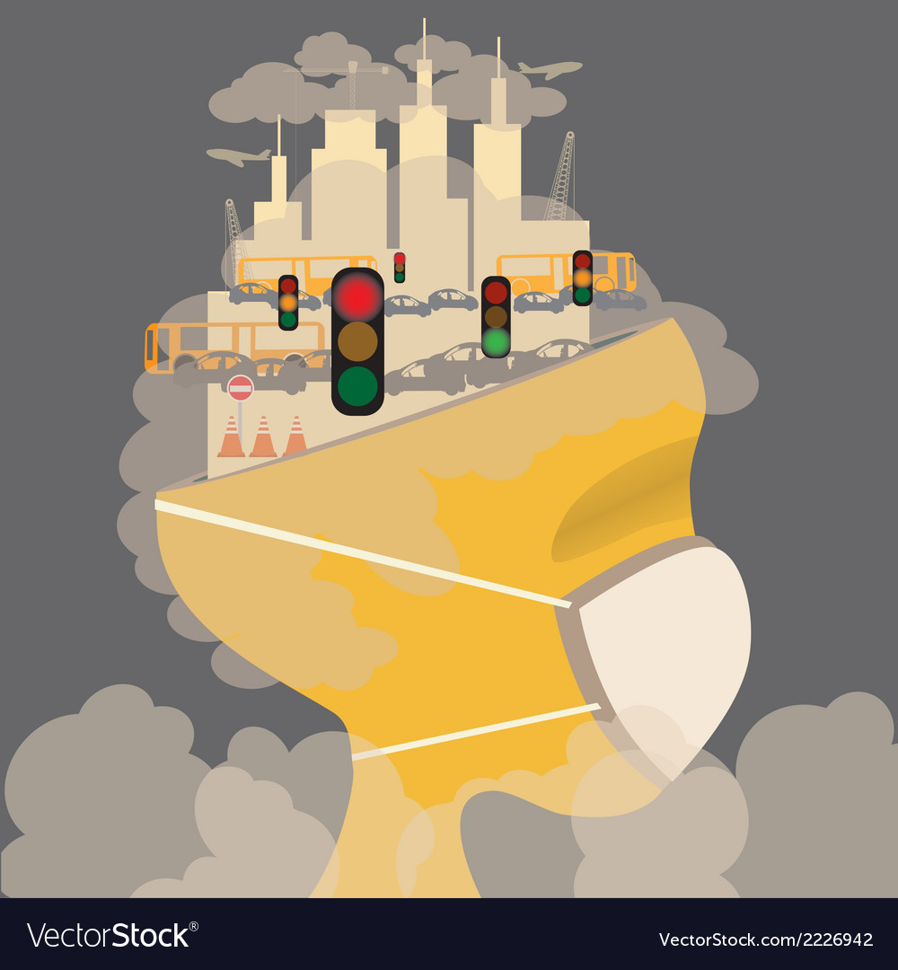 Pollution in the city vector | Price: 1 Credit (USD $1)