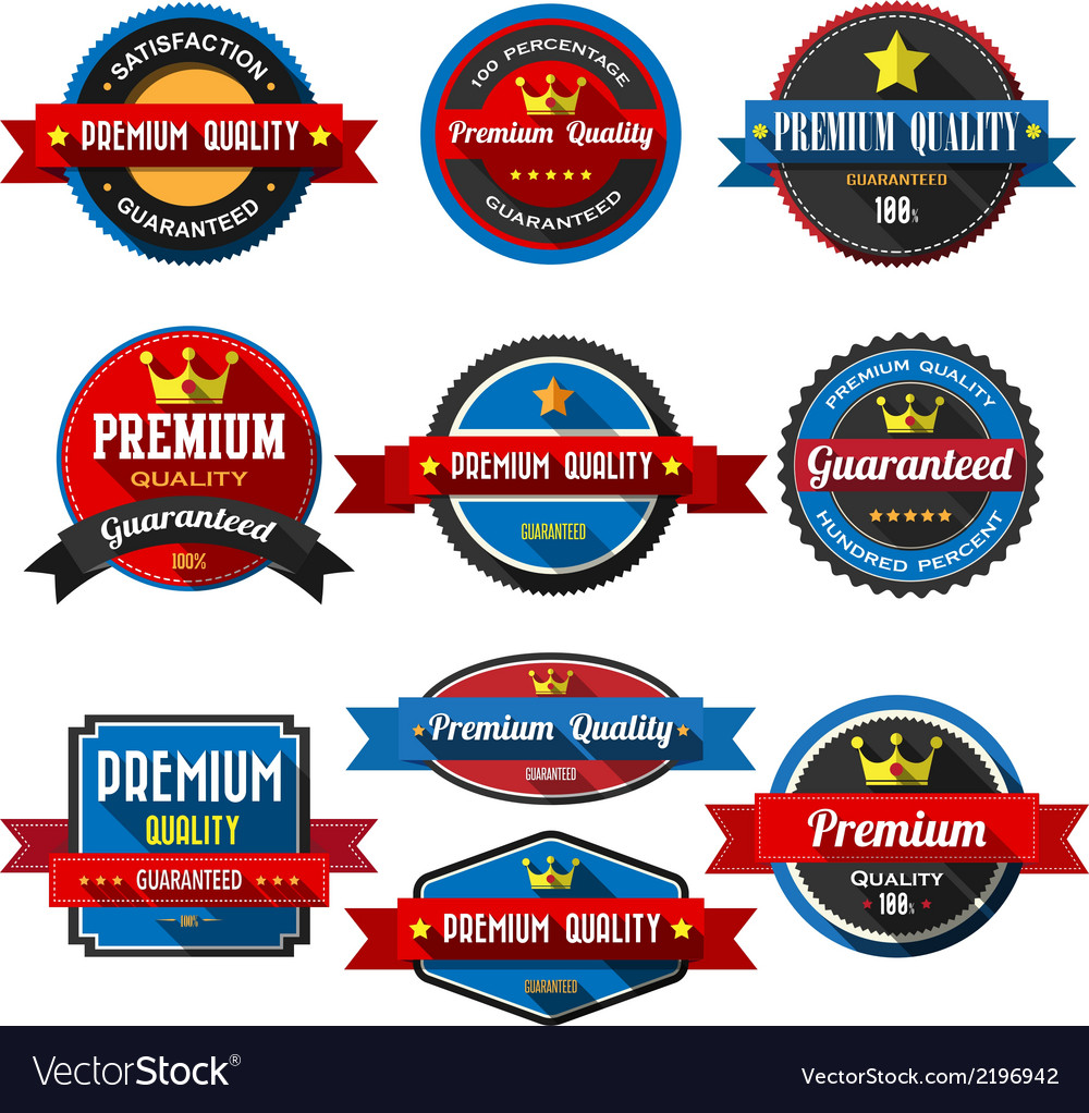 Premium quality retro vintage badges and labels fl vector | Price: 1 Credit (USD $1)