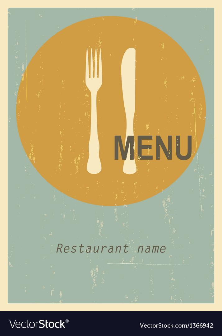 Retro menu cover vector   Price: 1 Credit (USD $1)