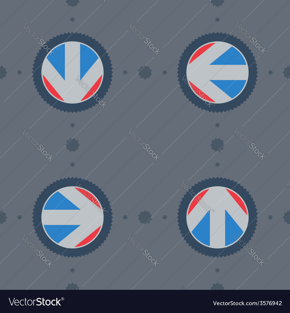 Seamless pattern with flat arrows with gear vector | Price: 1 Credit (USD $1)