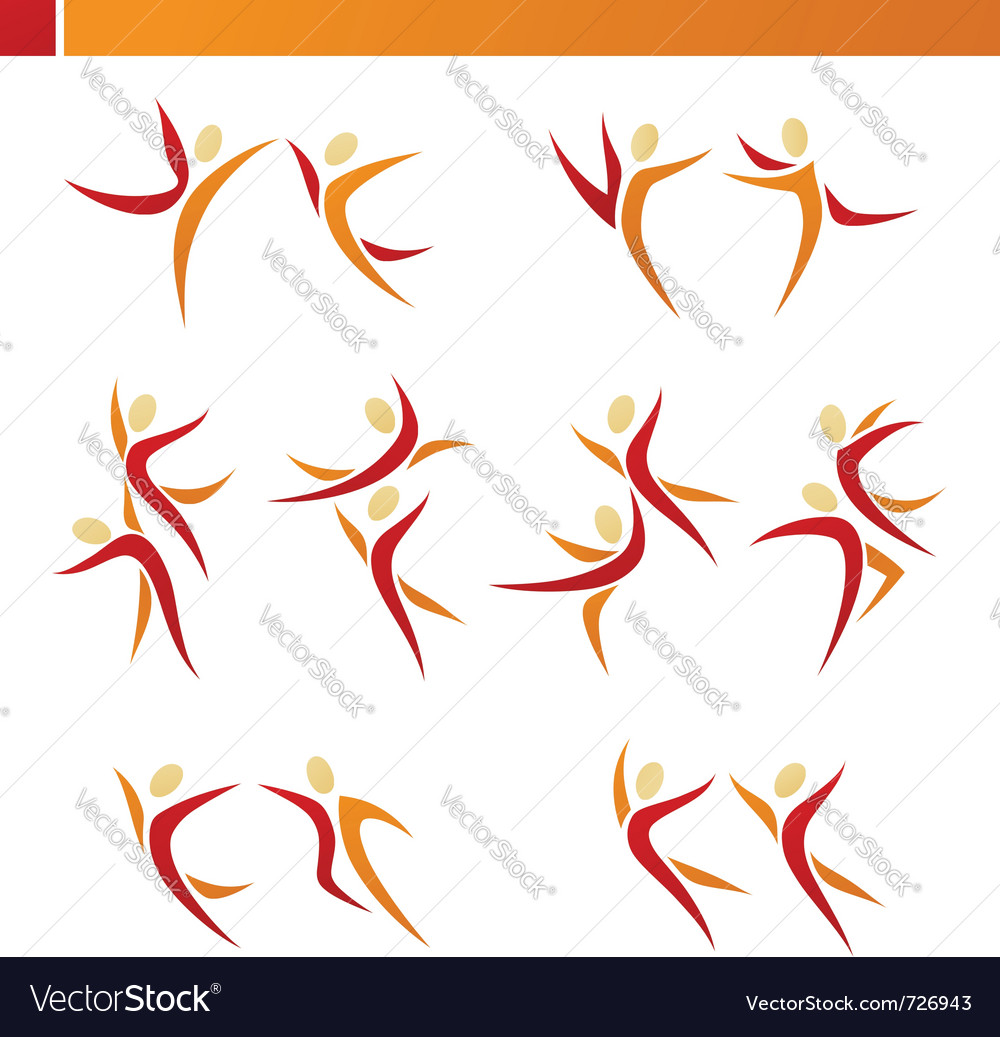Abstract human logo template set vector | Price: 1 Credit (USD $1)
